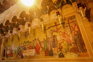 イスラエル,エルサレムの聖墳墓教会の滅後の絵画の写真素材 [FYI01746804]