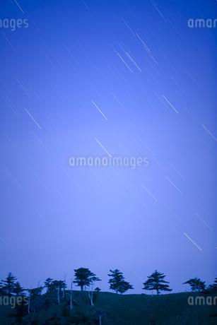瓶ヶ森林道より満天の星の写真素材 [FYI01746967]