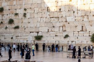 イスラエル,エルサレムの嘆きの壁の写真素材 [FYI01747355]