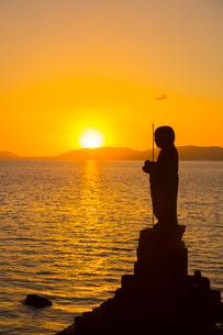宍道湖の残照の写真素材 [FYI01747462]