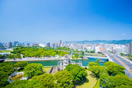 おりづるタワーより平和公園の眺望の写真素材 [FYI01747475]