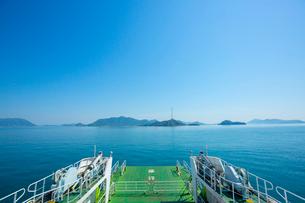 大久野島に向かうフェリーの写真素材 [FYI01747520]