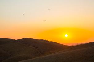 阿蘇大観峰のパラグライダーの写真素材 [FYI01747554]