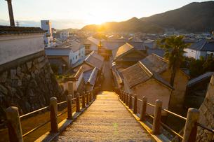 安芸の小京都竹原の町並みの写真素材 [FYI01747561]