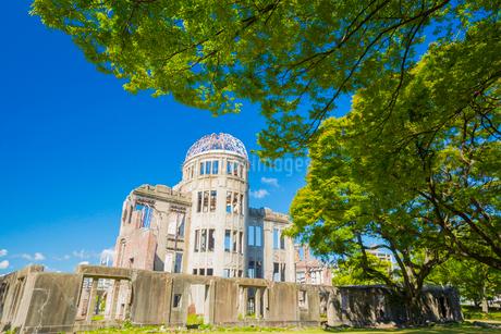 平和のシンボル原爆ドームの写真素材 [FYI01747666]