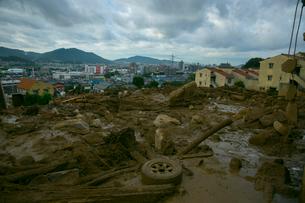 土砂災害の風景の写真素材 [FYI01747670]
