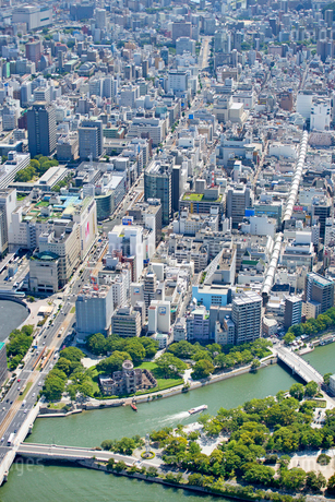 広島市の航空写真の写真素材 [FYI01747703]