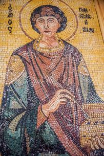 ヨルダン,マダバの聖ジョージ教会のモザイクの写真素材 [FYI01747825]