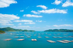 邑久町カキイカダのある風景の写真素材 [FYI01747874]