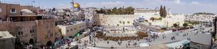 イスラエル,エルサレムの嘆きの壁と岩のドームの写真素材 [FYI01747894]