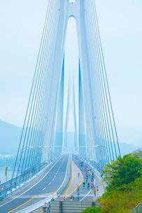 多々羅大橋サイクリングしまなみの写真素材 [FYI01747937]