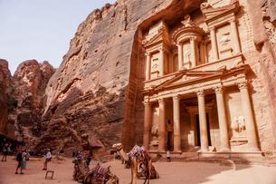 ヨルダン,ペトラ遺跡の写真素材 [FYI01748271]