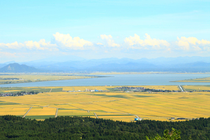 寒風山から眺める八郎潟の写真素材 [FYI01749368]