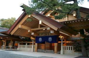熱田神宮 神楽殿の写真素材 [FYI01749379]