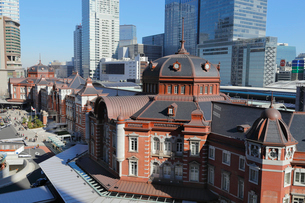 東京駅丸の内駅舎の写真素材 [FYI01749831]