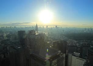 新宿副都心の朝日の写真素材 [FYI01750175]