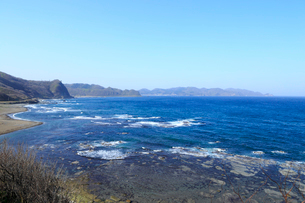 津軽半島と日本海の写真素材 [FYI01750189]