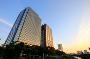 飯田橋の夕景の写真素材 [FYI01750268]