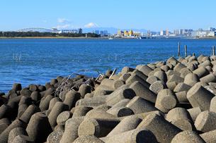 テトラポットと東京湾の写真素材 [FYI01750354]