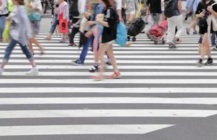 横断歩道を渡る人々の写真素材 [FYI01750521]