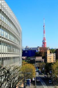東京タワーと六本木けやき坂通りの写真素材 [FYI01750629]