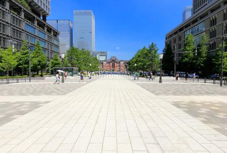 東京駅と行幸通りの写真素材 [FYI01750957]