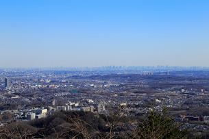 高尾山から眺める東京都心の写真素材 [FYI01751290]