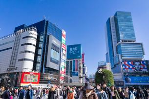 渋谷 スクランブル交差点の写真素材 [FYI01751309]
