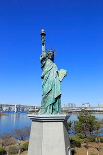 お台場 自由の女神像の写真素材 [FYI01751399]