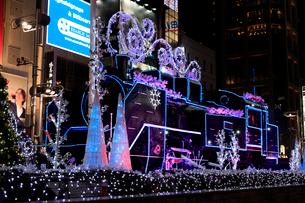 新橋駅SL広場の夜景の写真素材 [FYI01751684]