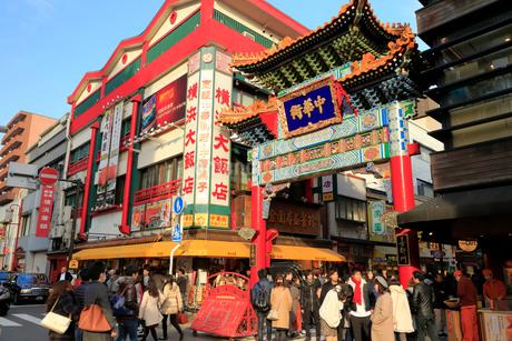 横浜中華街の写真素材 [FYI01752021]