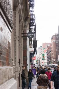 アメリカ ニューヨーク SOHOの街並の写真素材 [FYI01752628]