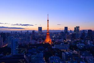 東京夕景の写真素材 [FYI01752704]