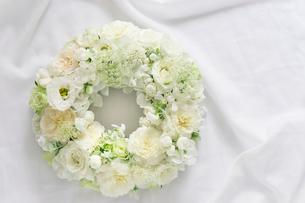 バラとスカビオサのホワイトリースの写真素材 [FYI01753138]