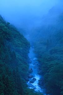 夜明け前の北山川の写真素材 [FYI01753495]