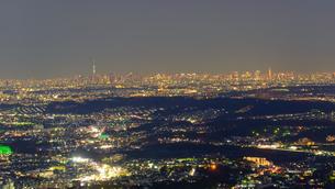 東京の夜景の写真素材 [FYI01753606]