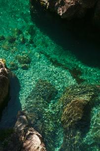 前鬼川の水の色の写真素材 [FYI01753614]