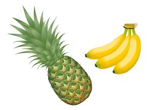果物 パイナップル バナナのイラスト素材 [FYI01753795]
