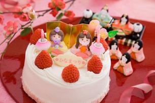 ひな祭りケーキの写真素材 [FYI01754906]