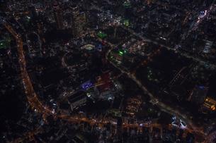 東京タワー消灯 空撮の写真素材 [FYI01755010]