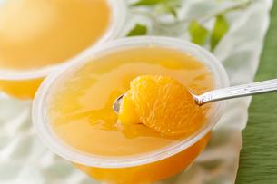 オレンジのゼリーの写真素材 [FYI01755114]