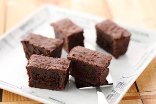 チョコレートブラウニーの写真素材 [FYI01755229]