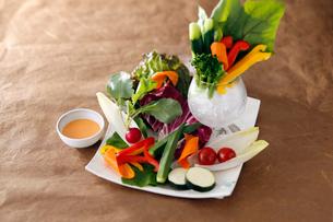 生野菜サラダの写真素材 [FYI01755741]
