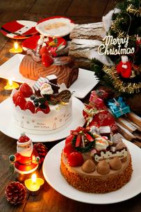 クリスマスケーキの写真素材 [FYI01756476]