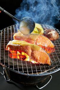 鮭のみそ焼きの写真素材 [FYI01756600]