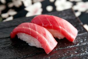 マグロ握り寿司のイメージの写真素材 [FYI01756651]