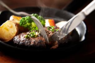 ハンバーグステーキの写真素材 [FYI01756777]