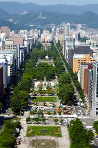 さっぽろテレビ塔から見た大通公園の写真素材 [FYI01756805]