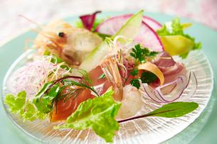 道内産鮮魚のカルパッチョの写真素材 [FYI01756917]