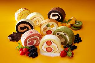 ロールケーキの写真素材 [FYI01757077]